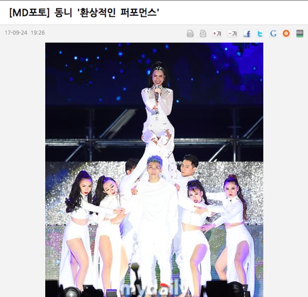 Báo chí Hàn xôn xao về sân khấu của Đông Nhi tại Asia Song Festival 2017: Một màn trình diễn tuyệt vời - Ảnh 5.
