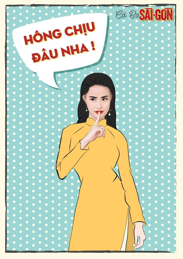 Hết tuyên truyền nữ quyền, các mỹ nhân Cô Ba Sài Gòn lại nhí nhảnh với phong cách pop-art - Ảnh 12.
