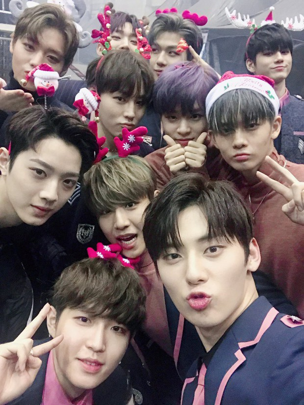 Sao Hàn và Thái đón Giáng Sinh: Wanna One, Big Bang mừng lễ trên sân khấu, Seventeen và NUEST bê than làm từ thiện - Ảnh 2.