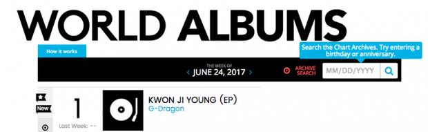 Giữa bão xui, G-Dragon thống trị BXH album thế giới của Billboard - Ảnh 2.