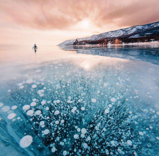 Ngắm nhìn hồ băng đẹp như cổ tích ở miền nam nước Nga - Ảnh 7.