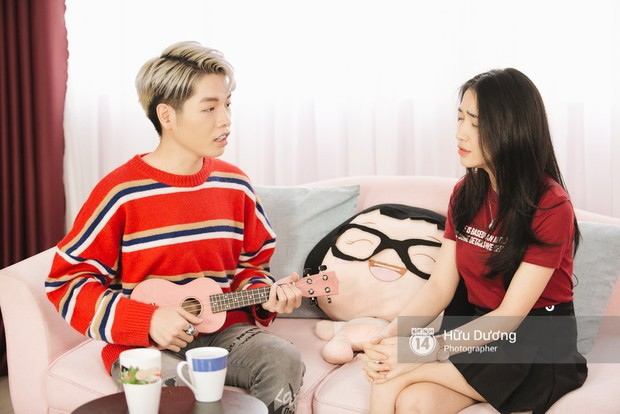 Clip phỏng vấn: Hòa Minzy - Đức Phúc bắt chước Phạm Hương, nhẫn nhịn đọc comment tiêu cực - Ảnh 4.