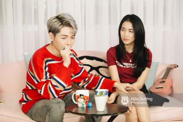 Clip phỏng vấn: Hòa Minzy - Đức Phúc bắt chước Phạm Hương, nhẫn nhịn đọc comment tiêu cực - Ảnh 8.