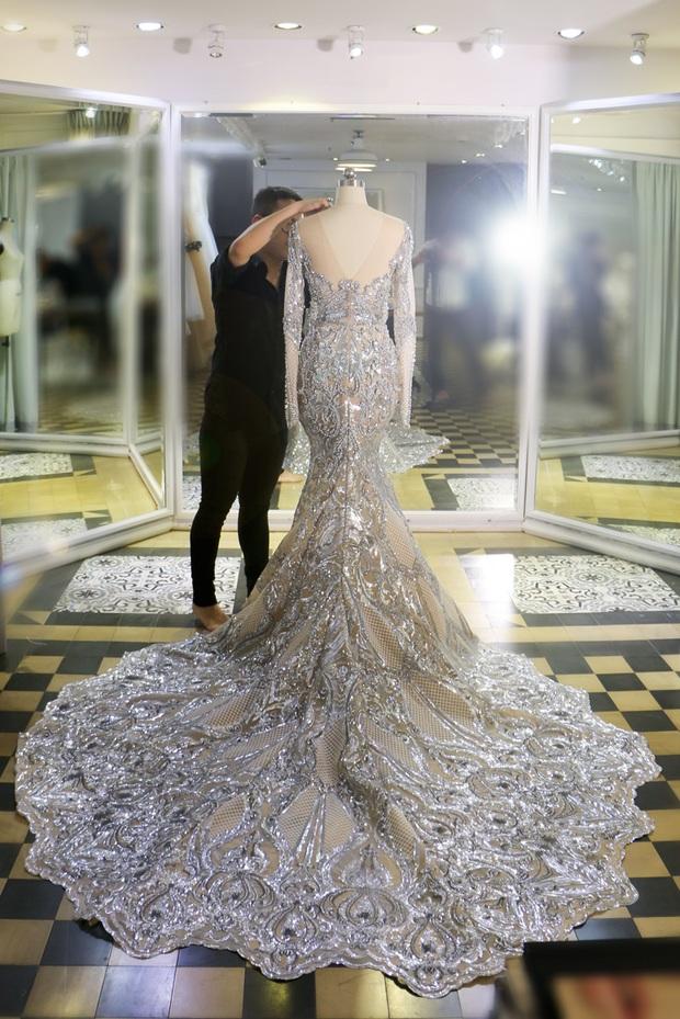 Đây là trang phục dạ hội mà Lệ Hằng mang đi chinh chiến tại Hoa hậu Hoàn vũ 2016 - Ảnh 3.