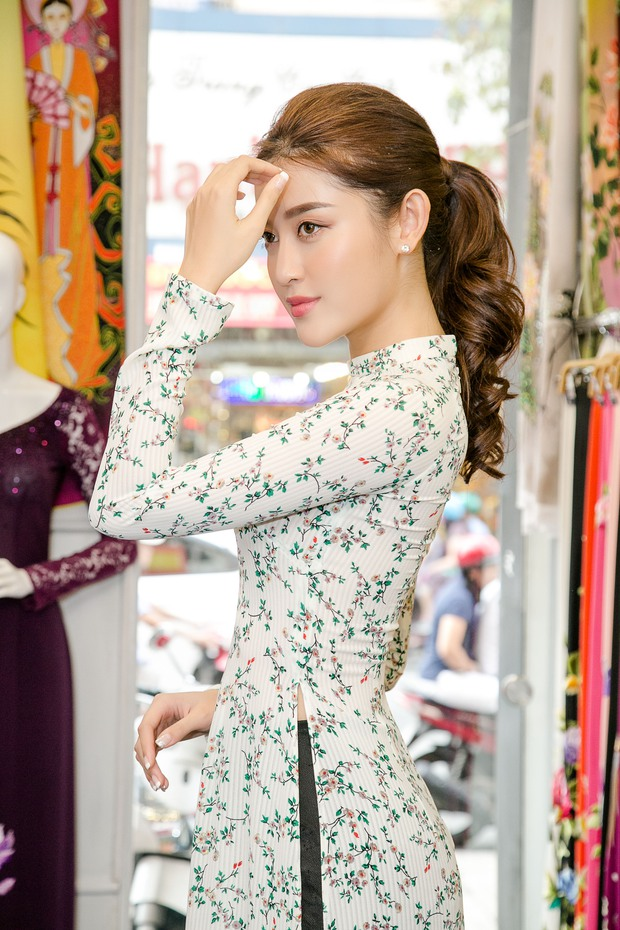 Huyền My xinh đẹp, lộng lẫy như công chúa trong buổi thử váy dạ hội, áo dài cho Miss Grand International2017 - Ảnh 9.