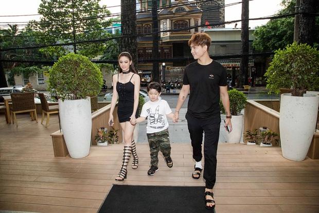 Trương Quỳnh Anh hoá miêu nữ gợi cảm, cùng Tim tổ chức sinh nhật cho con trai - Ảnh 1.