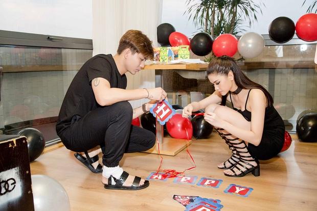 Trương Quỳnh Anh hoá miêu nữ gợi cảm, cùng Tim tổ chức sinh nhật cho con trai - Ảnh 3.