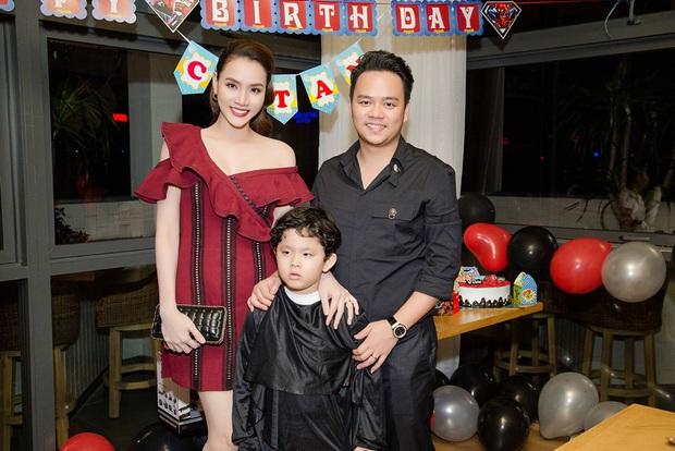 Trương Quỳnh Anh hoá miêu nữ gợi cảm, cùng Tim tổ chức sinh nhật cho con trai - Ảnh 10.