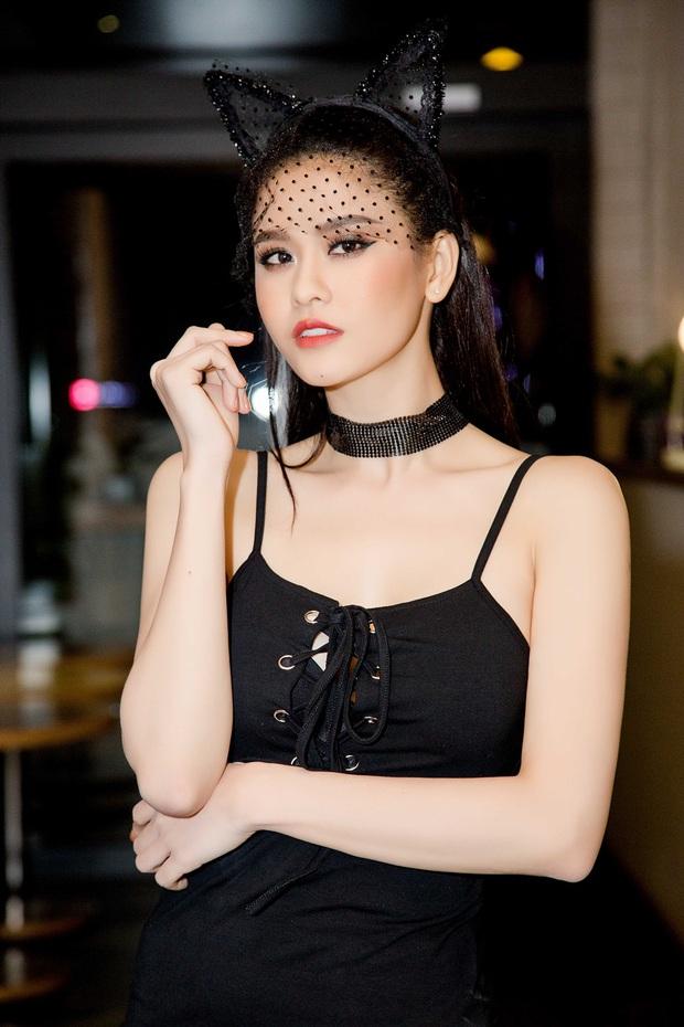 Trương Quỳnh Anh hoá miêu nữ gợi cảm, cùng Tim tổ chức sinh nhật cho con trai - Ảnh 2.