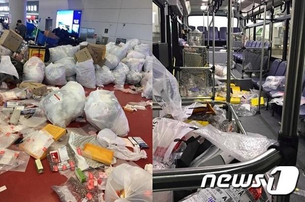 Du khách Trung Quốc lại hồn nhiên biến xe buýt, sân bay Jeju thành bãi rác, bỏ mặc mọi chỉ trích của dư luận - Ảnh 2.