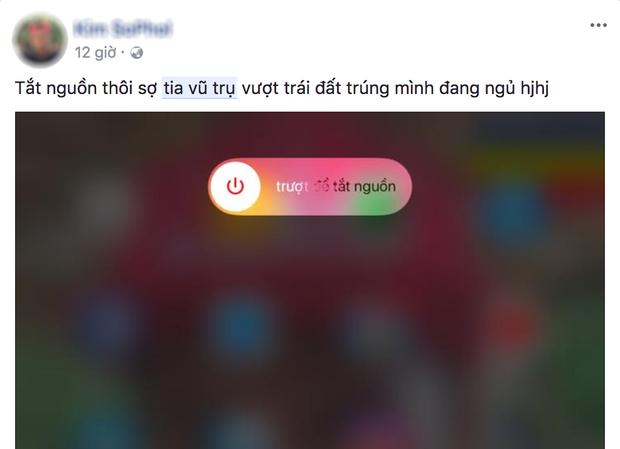 Ăn theo bão Tembin, trò bịp bợm tia vũ trụ lan truyền trên Facebook - Ảnh 2.