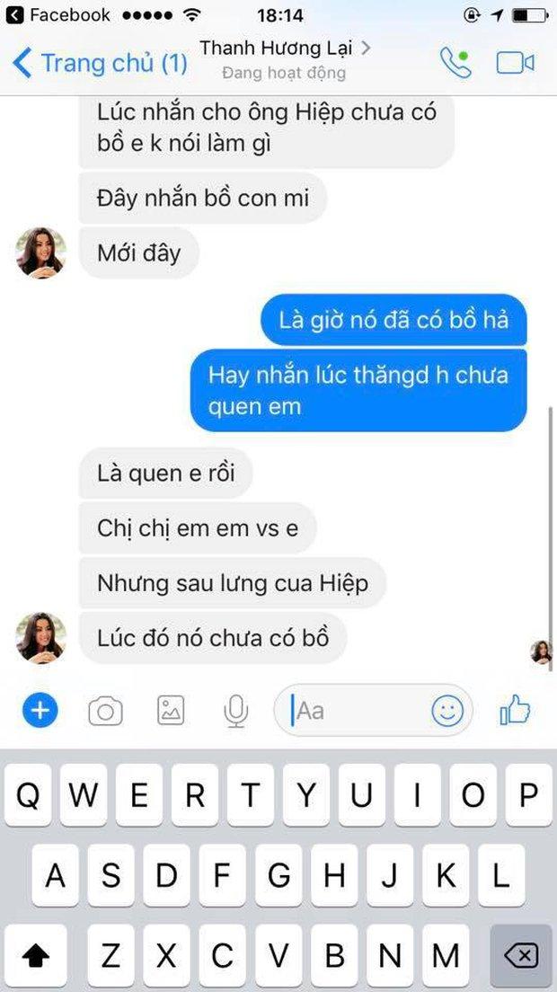 Lộ tin nhắn Lại Thanh Hương tố Cao Thiên Trang thả thính bạn trai mình và cả người yêu Chà Mi? - Ảnh 4.