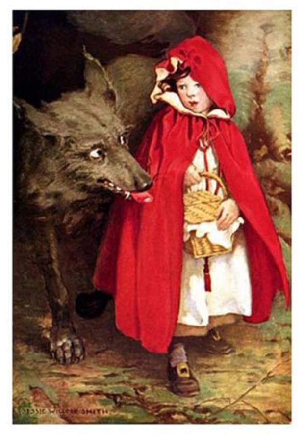 Nếu là fan của truyện cổ tích, phiên bản Cô bé quàng khăn đỏ đầy đáng sợ sẽ khiến bạn rùng mình - Ảnh 1.