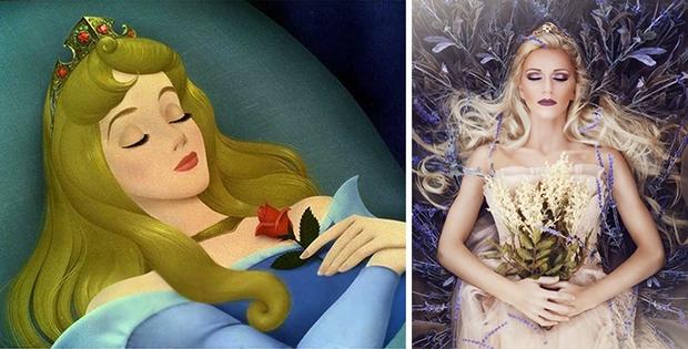 Nữ nhiếp ảnh gia tái hiện cảnh phim hoạt hình Disney trở thành hiện thực đẹp như mơ - Ảnh 1.