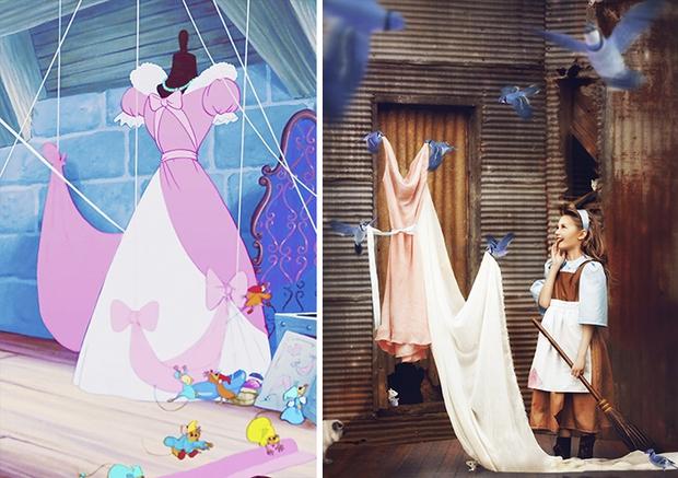 Nữ nhiếp ảnh gia tái hiện cảnh phim hoạt hình Disney trở thành hiện thực đẹp như mơ - Ảnh 5.