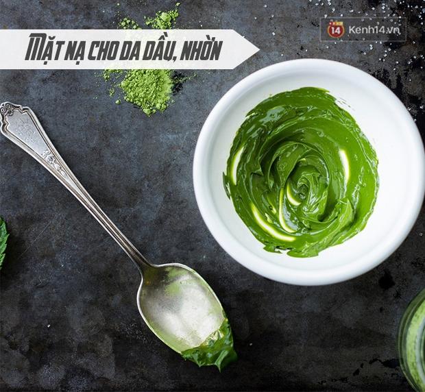 Không chỉ ăn được, dùng bột trà xanh đắp mặt còn giúp da vừa trắng vừa sạch mụn - Ảnh 3.