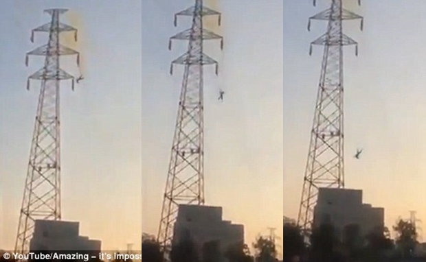Người đàn ông bị điện giật trên cột cao thế, rơi 30m xuống đất nhưng vẫn sống - Ảnh 2.