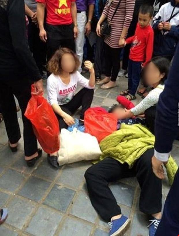 Xử phạt nhóm thanh niên xô xát làm ngã bà cụ ở chùa Hương - Ảnh 1.