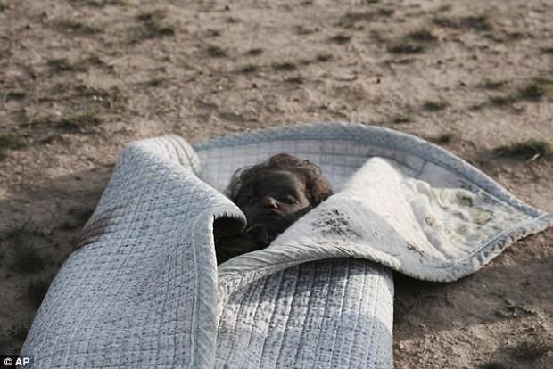 Bức ảnh thi thể bé gái quấn trong chăn gợi lên nỗi đau chiến tranh của trẻ em Iraq - Ảnh 1.