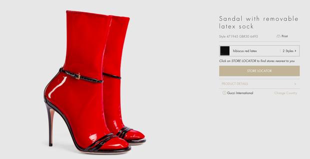 Đến Gucci cũng nhập cuộc xu hướng giày dép độc với đôi sandals kèm tất nhựa khiến dân tình hốt hoảng - Ảnh 2.