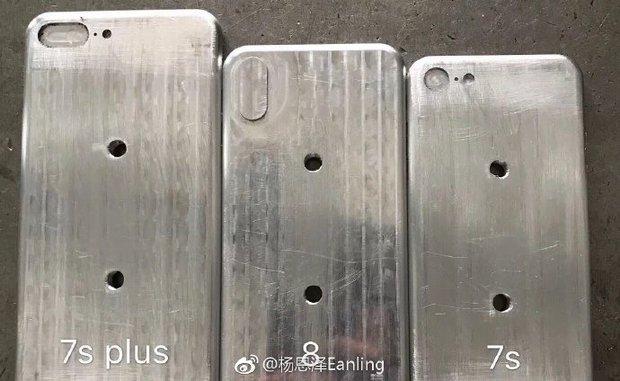 Thiết kế iPhone 7s, 7s Plus và iPhone 8 lộ diện trong cùng một hình ảnh - Ảnh 1.