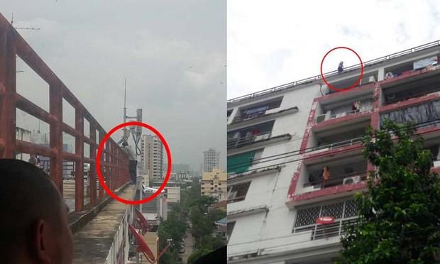 Thái Lan: Bạn thân đi lấy vợ, thầy giáo đòi nhảy tự tử từ tầng 9 tòa nhà cao tầng - Ảnh 1.