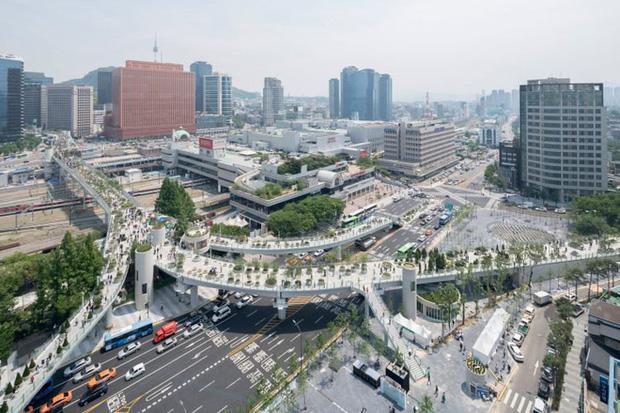 Ngắm khu vườn đẹp như cổ tích trên cầu vượt ở Seoul - Ảnh 3.