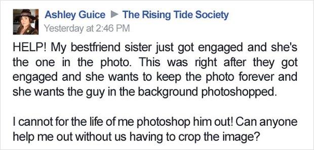 Cặp đôi lên mạng nhờ chỉnh sửa ảnh, nào ngờ vớ được mấy thánh photoshop có tâm hết sức - Ảnh 1.