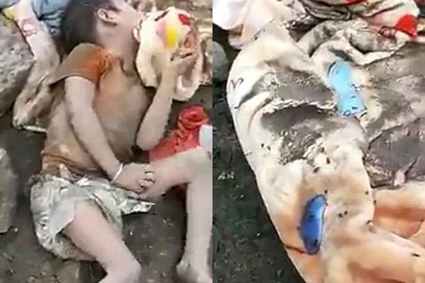 Bị cha mẹ bỏ rơi, bé gái khóc thút thít và đói lả giữa bãi rác bẩn thỉu - Ảnh 1.