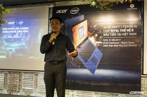 Acer trình làng laptop Swift 3 chạy vi xử lý Core I thế hệ thứ 8 đầu tiên về Việt Nam, giá 16,99 triệu đồng - Ảnh 1.