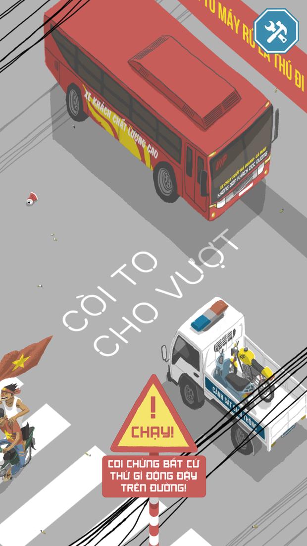 Game Việt biến bạn thành ninja xe tay ga vượt mọi thử thách giao thông ở Việt Nam - Ảnh 1.