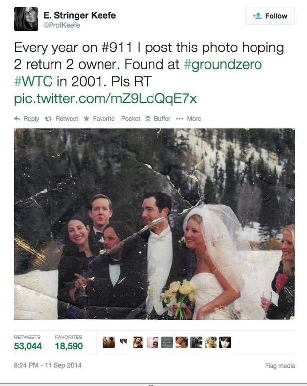 Câu chuyện 13 năm đi tìm lời giải về tấm ảnh cưới bí ẩn ở hiện trường vụ khủng bố 11/9 - Ảnh 2.