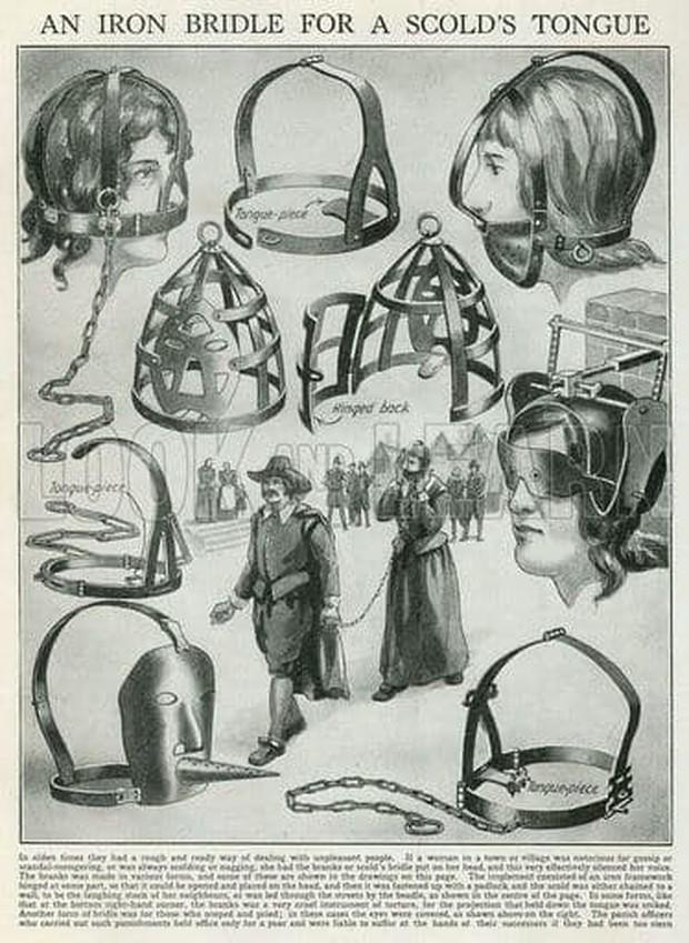 Những hình phạt tàn nhẫn dành riêng cho phụ nữ ở thời Trung Cổ khiến nhiều người run sợ - Ảnh 1.