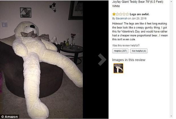 Bi hài chuyện mua hàng online: Đặt mua gấu bông khổng lồ cao 2m, nhận về gấu gầy đét, chân dài 98cm - Ảnh 2.
