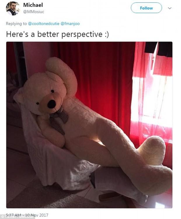 Bi hài chuyện mua hàng online: Đặt mua gấu bông khổng lồ cao 2m, nhận về gấu gầy đét, chân dài 98cm - Ảnh 3.