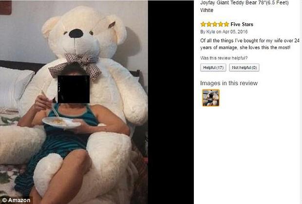 Bi hài chuyện mua hàng online: Đặt mua gấu bông khổng lồ cao 2m, nhận về gấu gầy đét, chân dài 98cm - Ảnh 4.