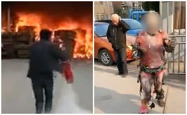 Clip: Cố tình lao vào đám cháy để tìm kiếm tài sản, người đàn ông biến thành ngọn đuốc sống - Ảnh 2.