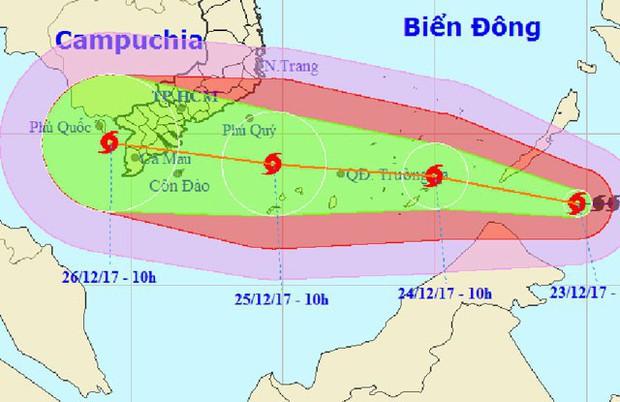 Trang dự báo thời tiết quốc tế đưa cảnh báo về bão Tembin tại Việt Nam: Mưa lớn, lụt lội nghiêm trọng và gió giật mạnh - Ảnh 1.