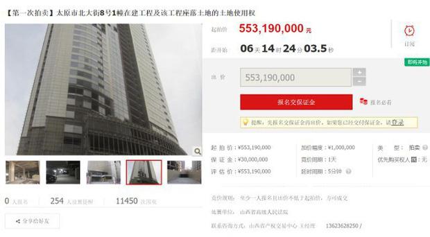Trung Quốc: Không chỉ Boeing 747, một tòa nhà chọc trời đang xây dở cũng được mang lên Taobao bán đấu giá - Ảnh 2.