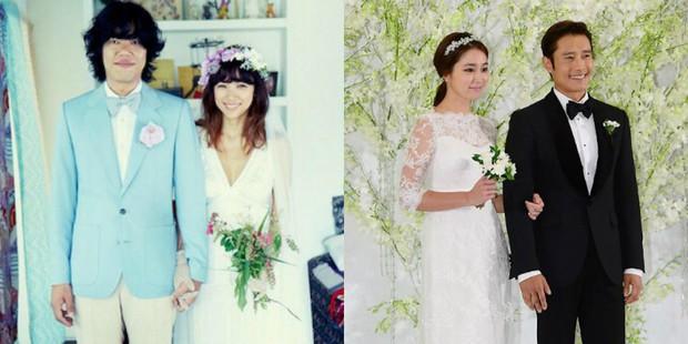 Các cặp sao kết hôn cùng thời điểm: Người hạnh phúc bên chồng nghèo, kẻ khổ sở khi lấy đại gia - Ảnh 1.