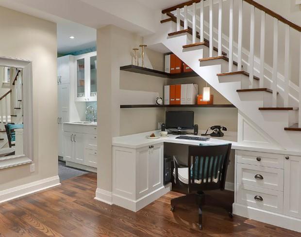 15 ý tưởng nội thất tận dụng gầm cầu thang vừa hiệu quả, vừa đẹp - Ảnh 23.