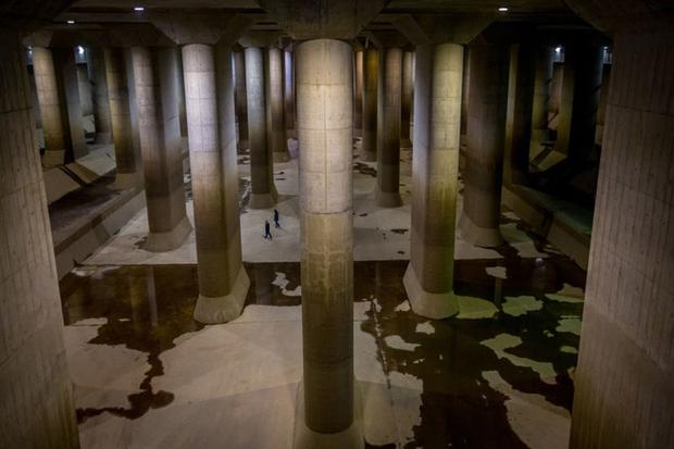 Giải mật cống ngầm lớn nhất thế giới ở Nhật, siêu bão mưa 3 ngày liền cũng không ngập - Ảnh 17.