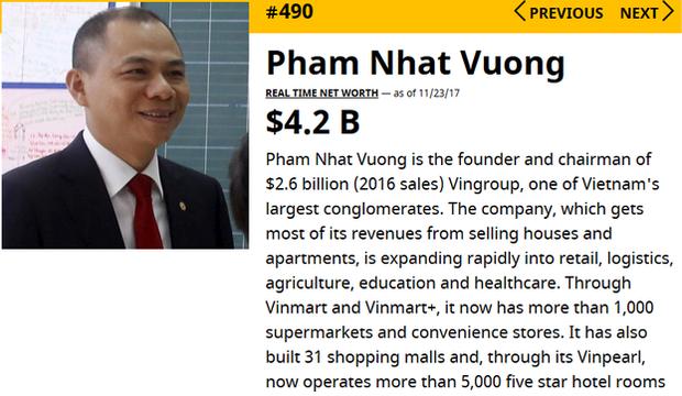 Tỷ phú Phạm Nhật Vượng vào danh sách 500 người giàu nhất hành tinh - Ảnh 3.