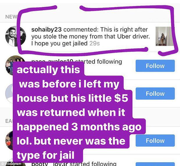 """Ăn trộm tiền của tài xế taxi, cô gái bị cư dân mạng truy lùng """"ném đá"""" phải đóng cửa Instagram - Ảnh 4."""
