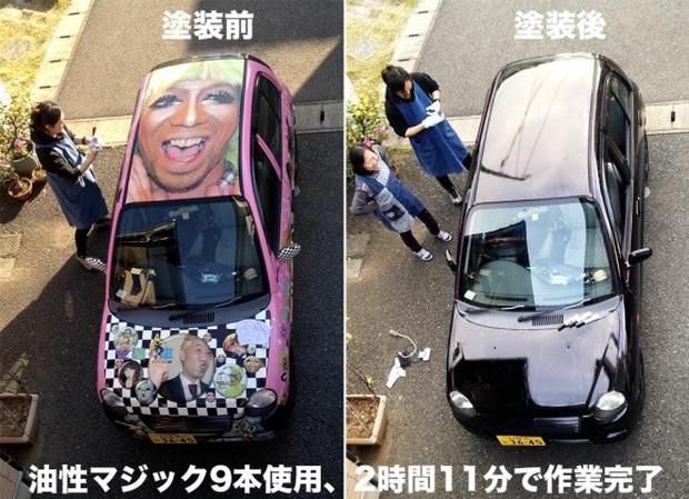 Nhật Bản: Bị chê dở hơi vì dùng bút viết bảng để sơn ô tô, sau khi đem xe đi rửa ai nấy đều bất ngờ - Ảnh 4.