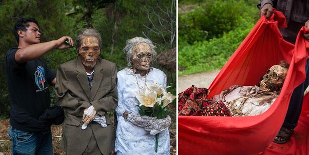 Đào mộ, thay áo mới cho xác chết: Đây chính là một tập tục rùng rợn nhất tại Indonesia - Ảnh 5.