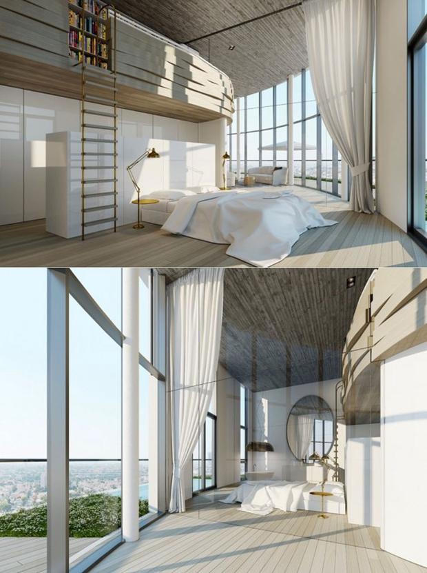 14 mẫu phòng ngủ rộng rãi dành cho người yêu kiến trúc - Ảnh 9.
