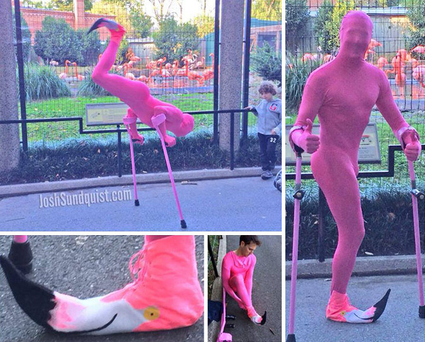 Mất một chân vì ung thư, chàng trai khiến cả thế giới ngưỡng mộ với những bộ trang phục Halloween siêu ngầu - Ảnh 11.