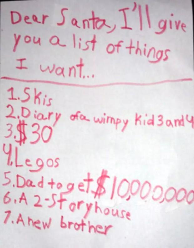 Những điều ước diệu kỳ của trẻ em trong dịp Giáng sinh: Lời nhắn số 9 khiến nhiều người vô cùng cảm động - Ảnh 6.