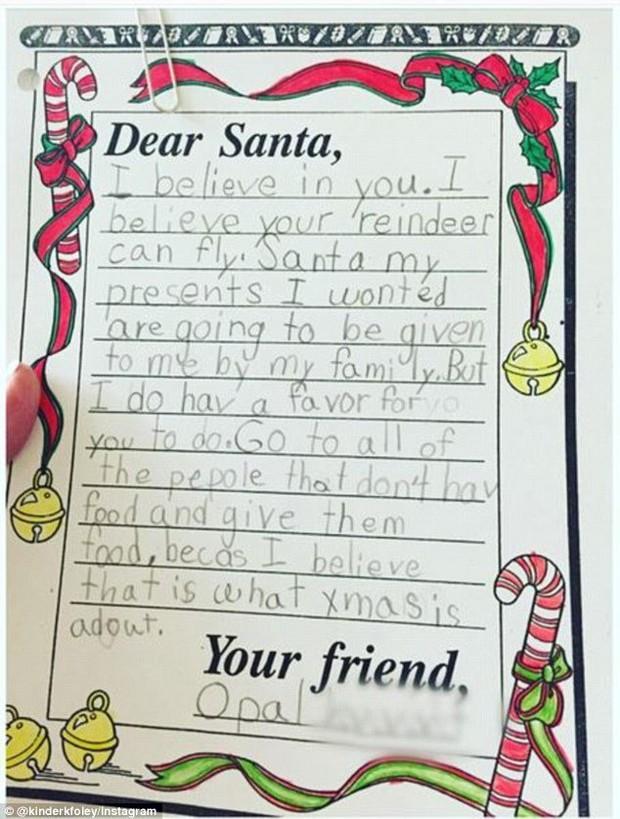 Những điều ước diệu kỳ của trẻ em trong dịp Giáng sinh: Lời nhắn số 9 khiến nhiều người vô cùng cảm động - Ảnh 9.